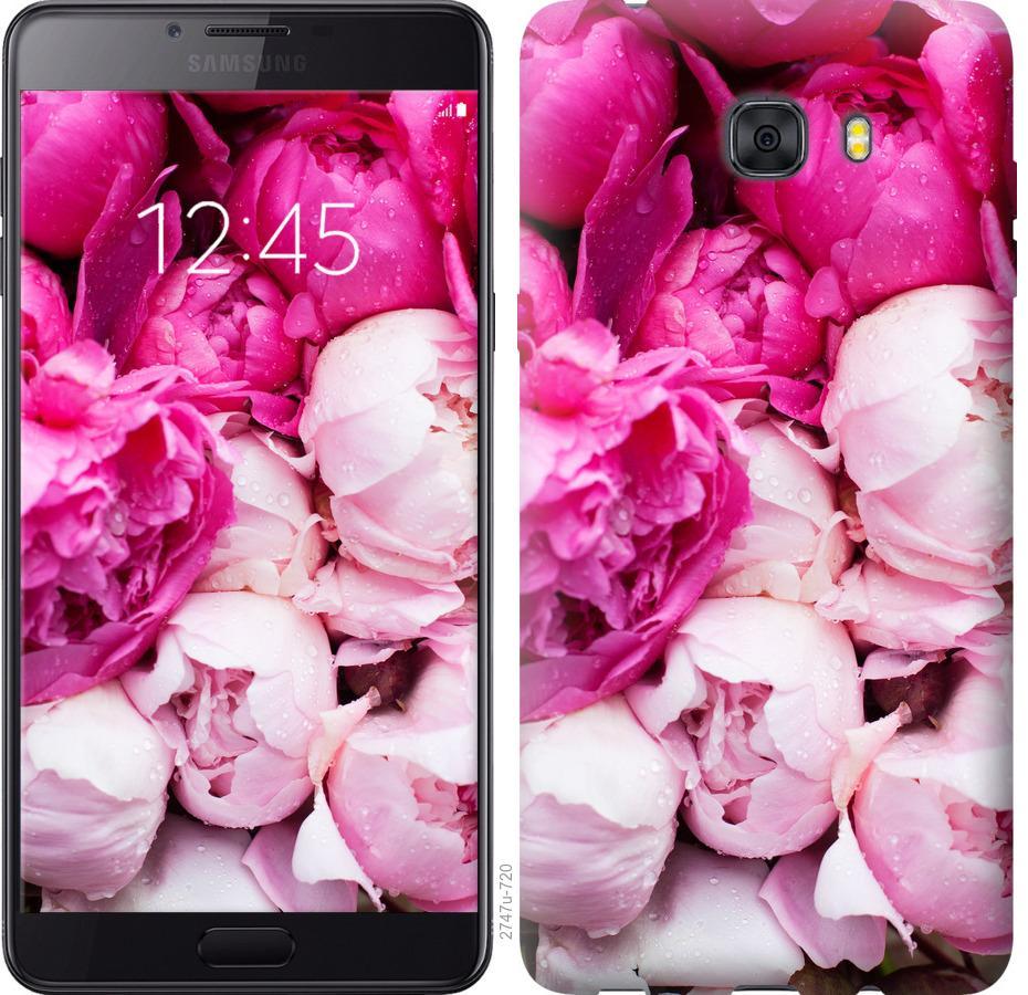 Чехол на Samsung Galaxy C9 Pro Розовые пионы