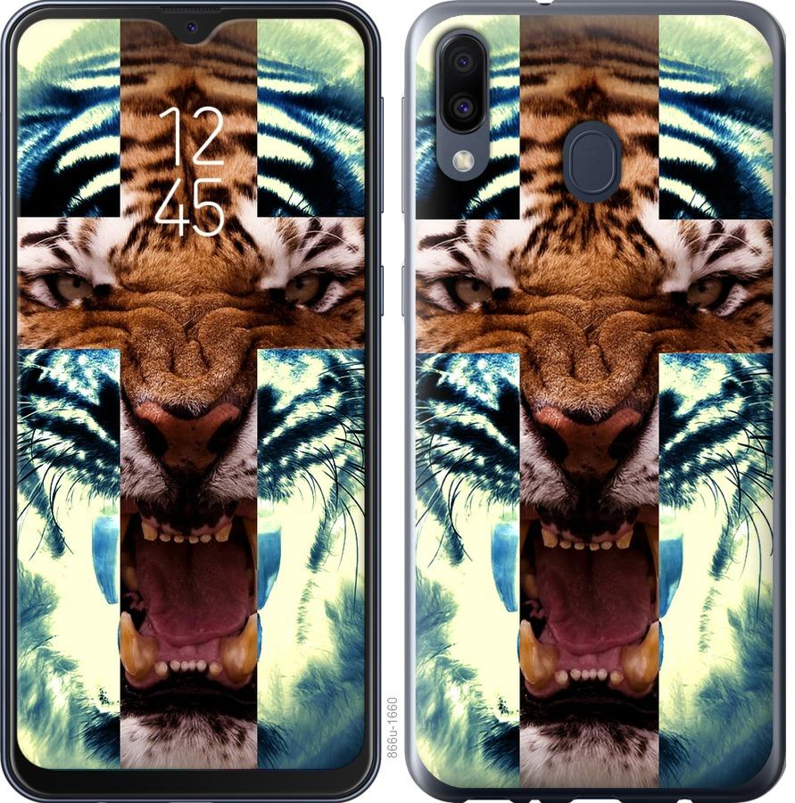 Чехол на Samsung Galaxy M30 Злой тигр