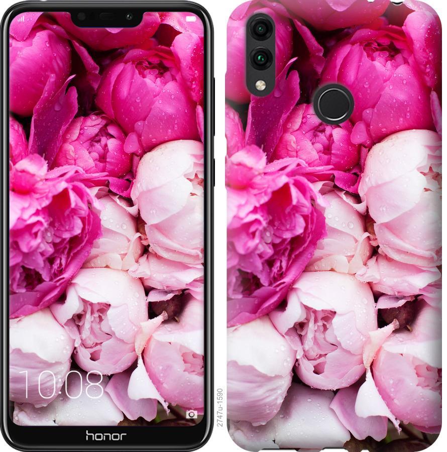 Чехол на Huawei Honor 8C Розовые пионы