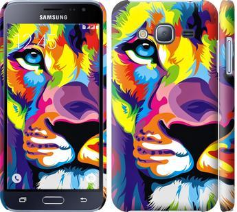 Чехол на Samsung Galaxy J3 Duos (2016) J320H Разноцветный лев