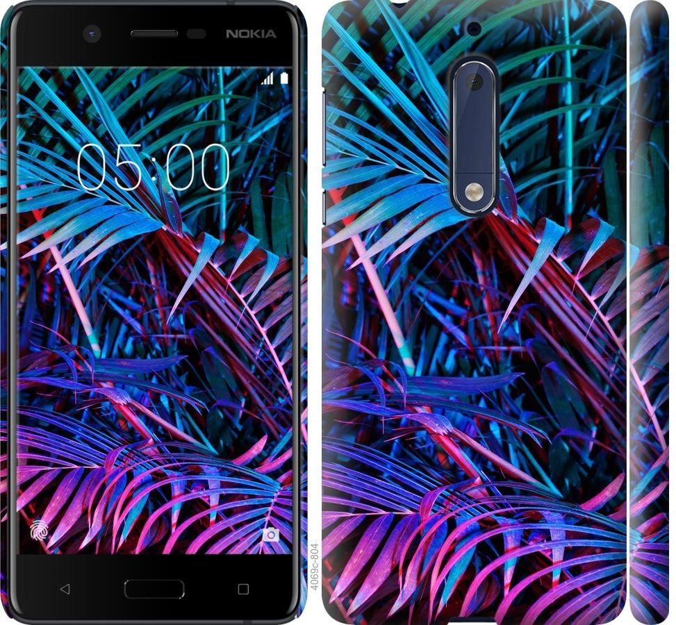 Чехол на Nokia 5 Папоротник под ультрафиолетом