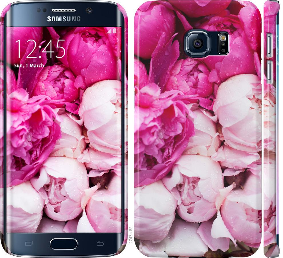 Чехол на Samsung Galaxy S6 Edge G925F Розовые пионы
