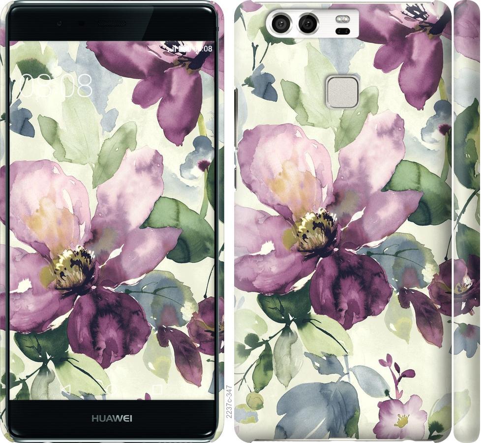 Чехол на Huawei P9 Цветы акварелью