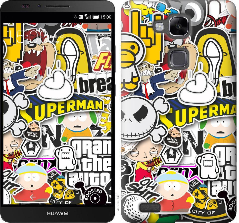 Чехол на Huawei Ascend Mate 7 Popular logos