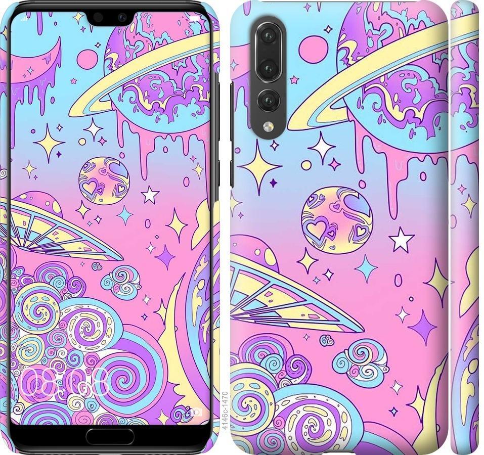 Чехол на Huawei P20 Pro Розовая галактика