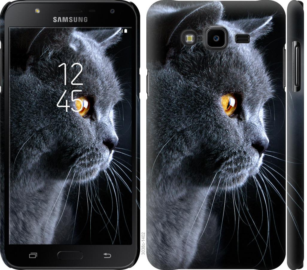Чехол на Samsung Galaxy J7 Neo J701F Красивый кот