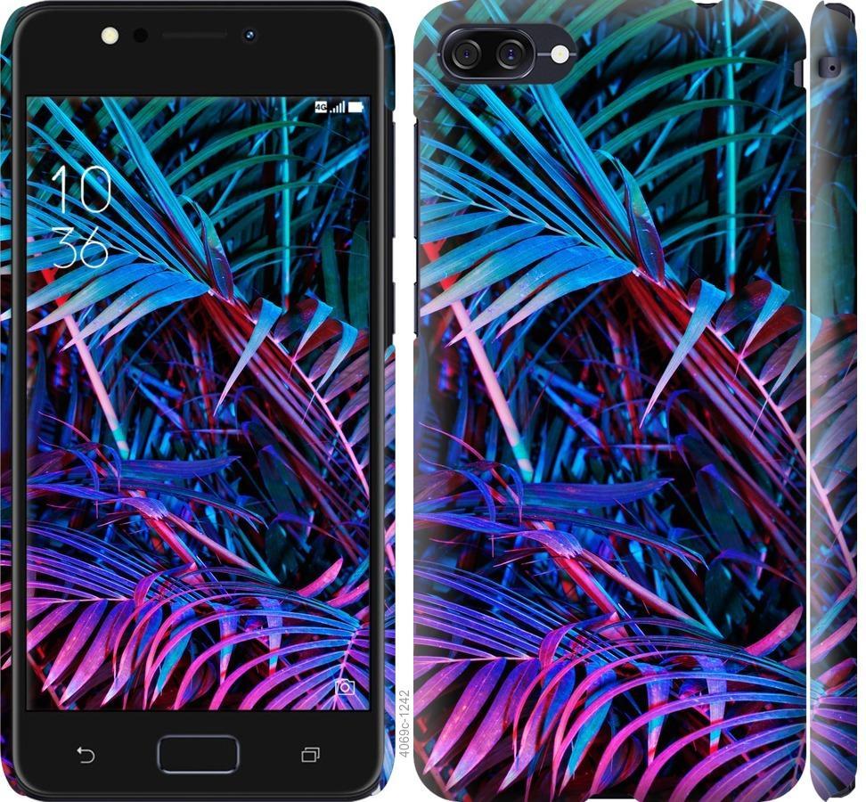 Чехол на Asus ZenFone 4 Max ZC554KL Папоротник под ультрафиолетом