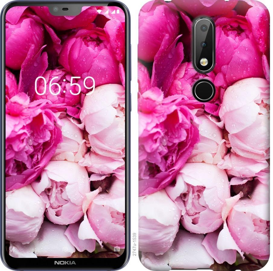 Чехол на Nokia 6.1 Plus Розовые пионы