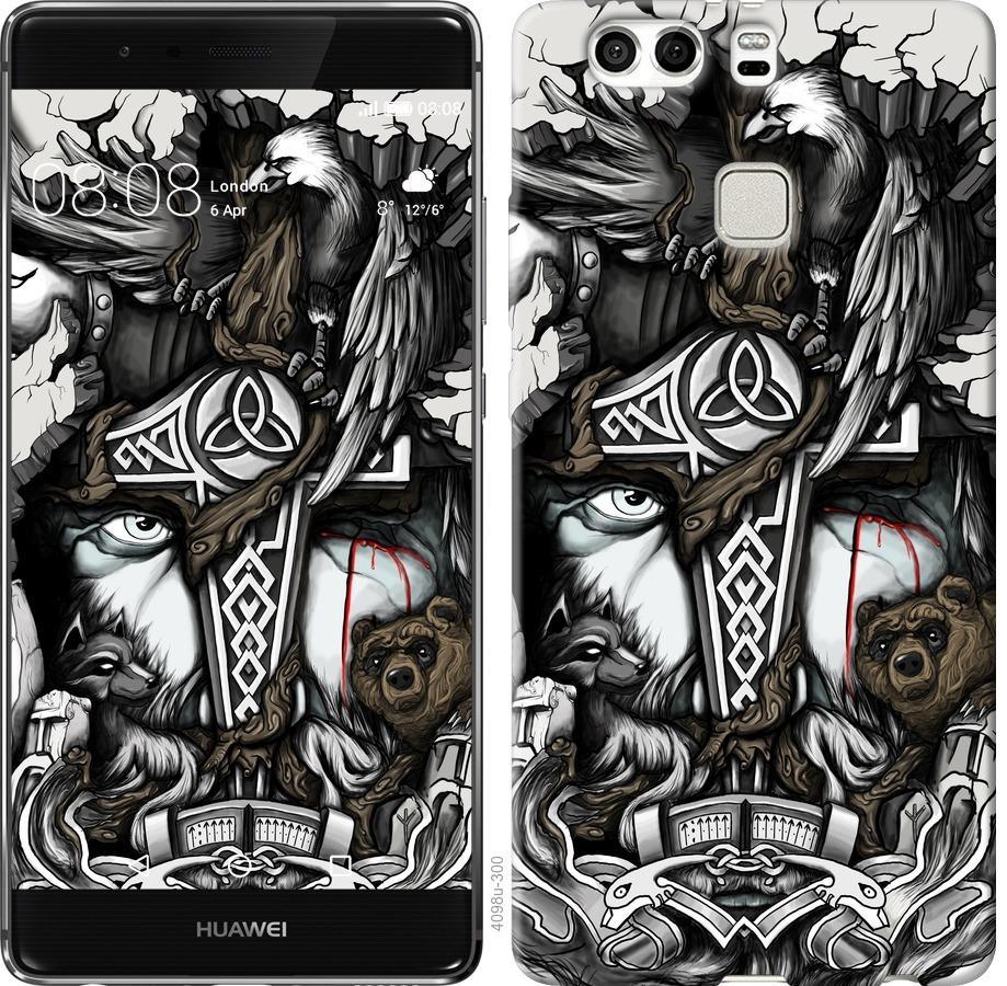 Чехол на Huawei P9 Plus Тату Викинг