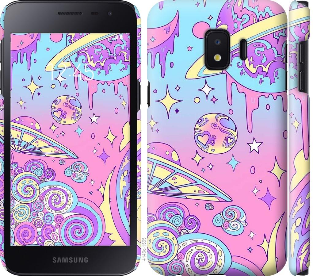 Чехол на Samsung Galaxy J2 Core Розовая галактика