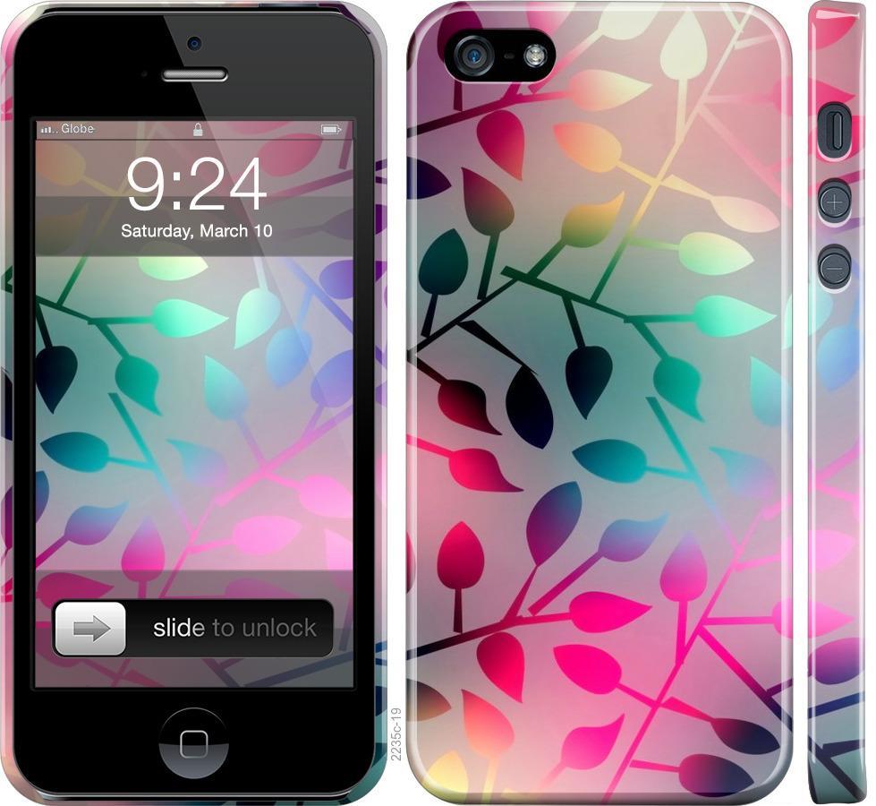 Чехол на iPhone SE Листья
