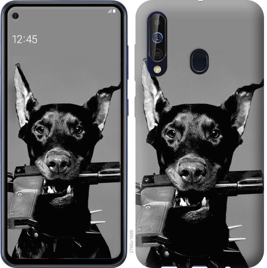 Чехол на Samsung Galaxy A60 2019 A606F Доберман