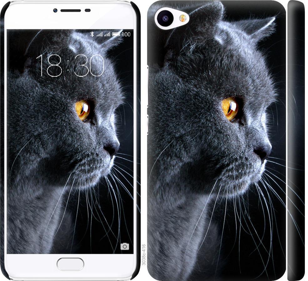 Чехол на Meizu U20 Красивый кот