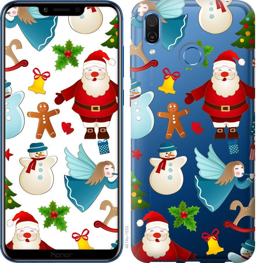 Чехол на Huawei Honor Play Новогодний 1