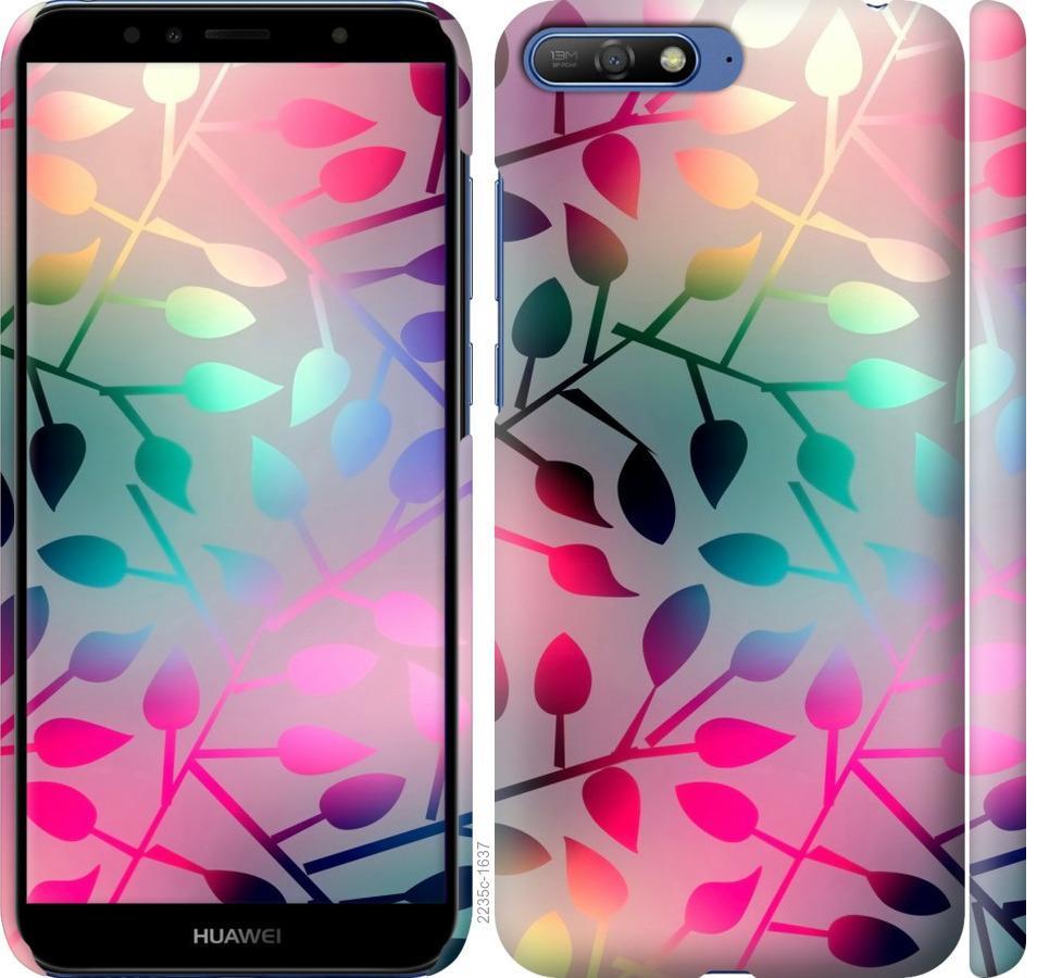 Чехол на Huawei Y6 2018 Листья