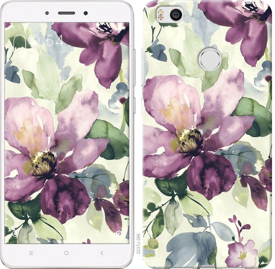 Чехол на Xiaomi Mi4s Цветы акварелью
