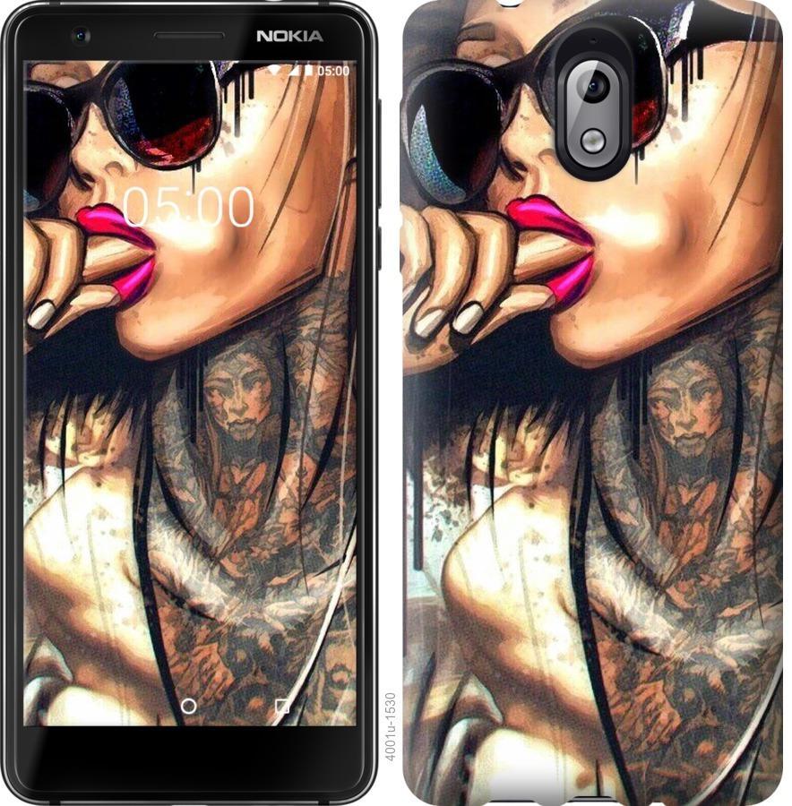 Чехол на Nokia 3.1 Девушка в тату