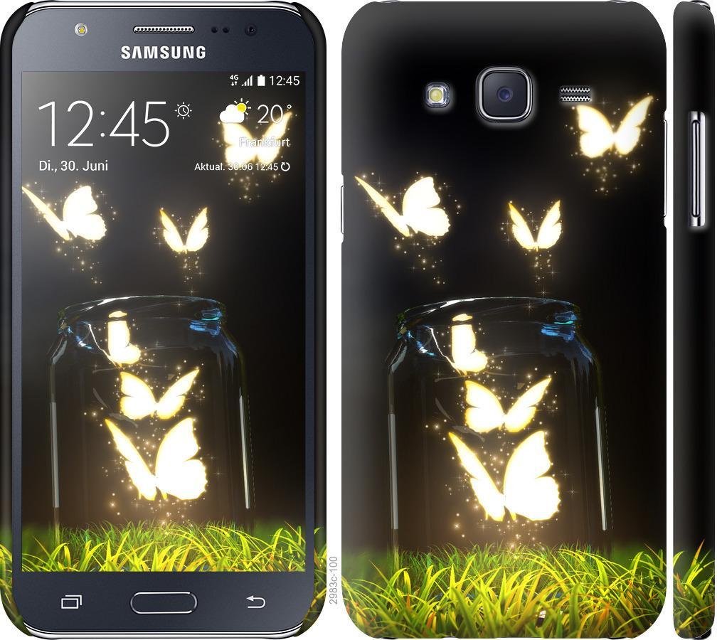 Чохол на Samsung Galaxy J5 (2015) J500H  Сяючі метелики