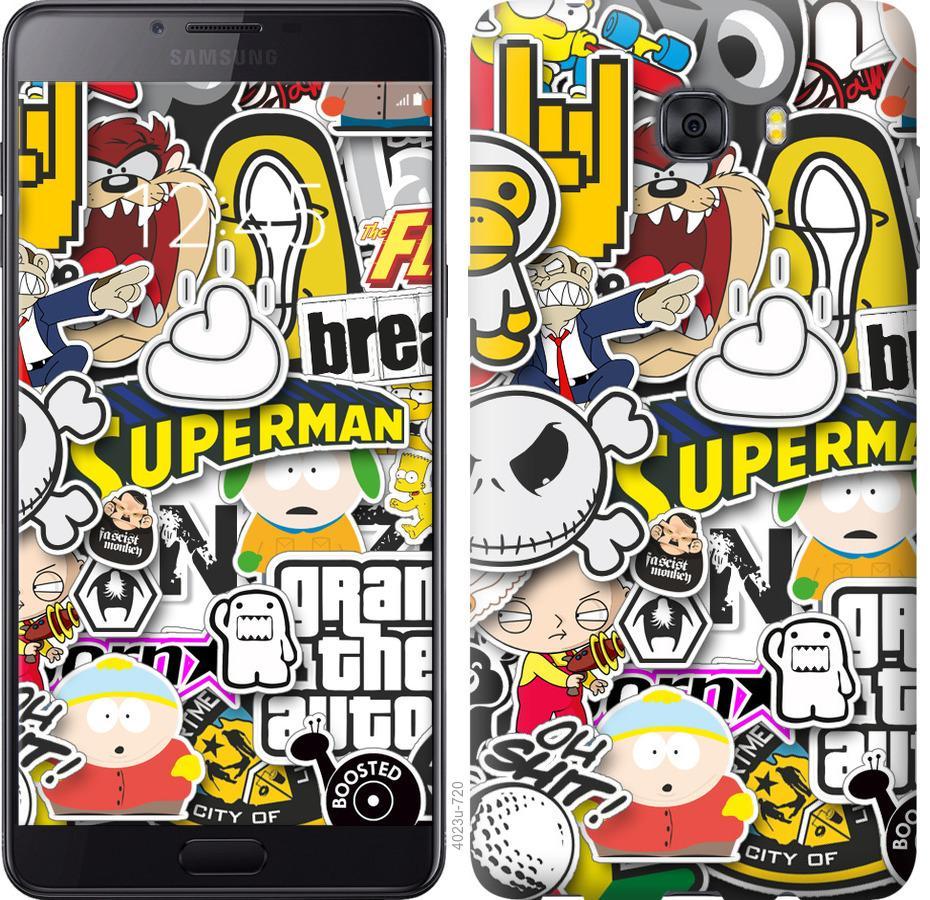 Чехол на Samsung Galaxy C9 Pro Popular logos