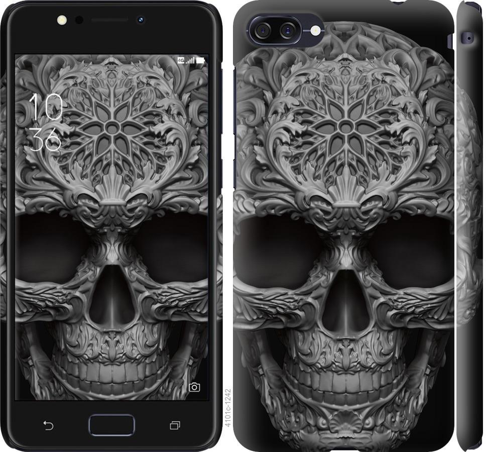 Чехол на Asus ZenFone 4 Max ZC554KL skull-ornament
