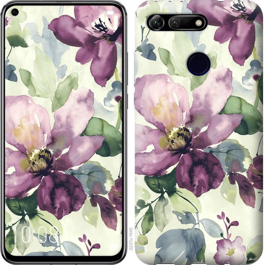 Чехол на Huawei Honor View 20 Цветы акварелью