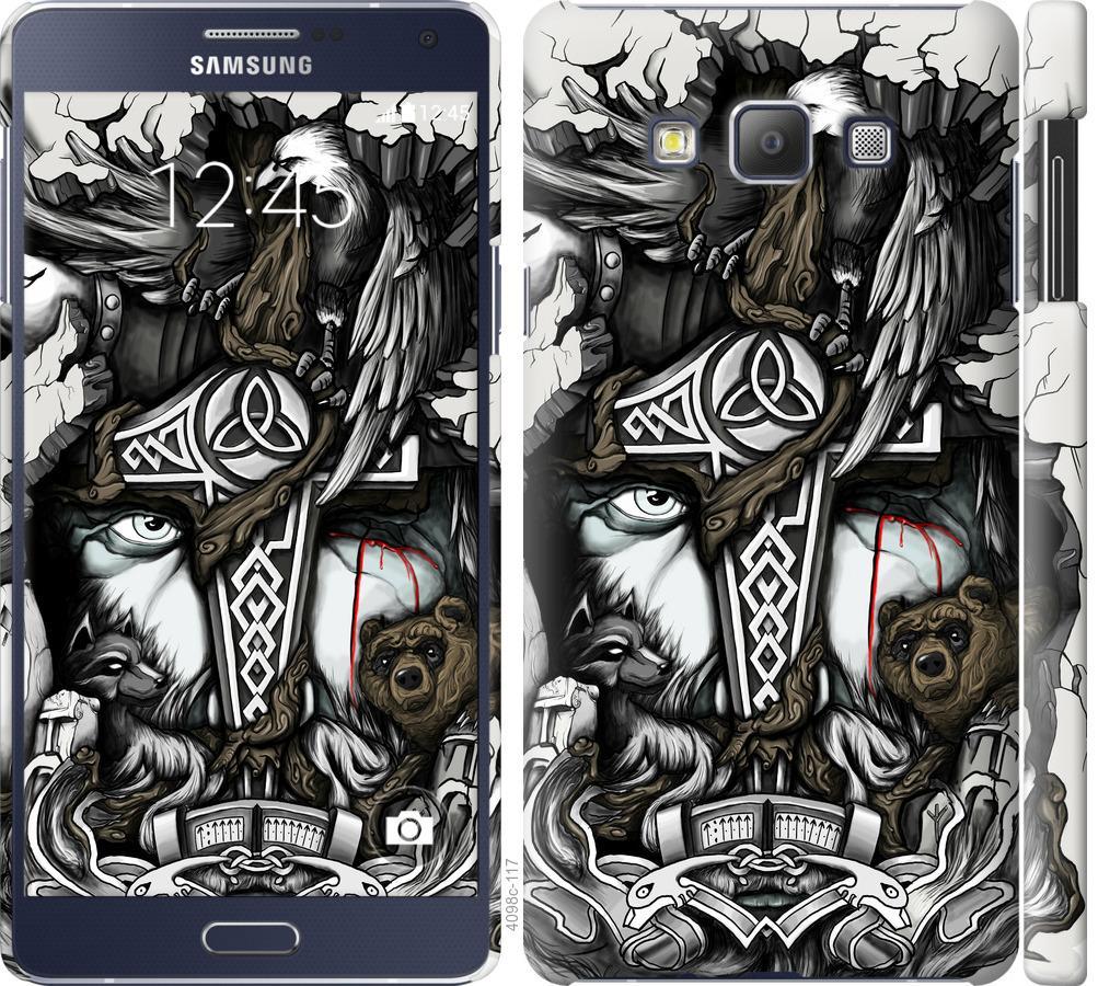 Чехол на Samsung Galaxy A7 A700H Тату Викинг