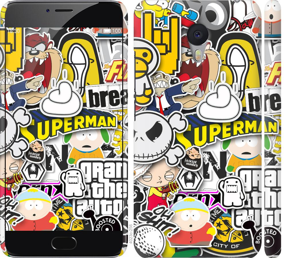 Чехол на Meizu M3 Note Popular logos