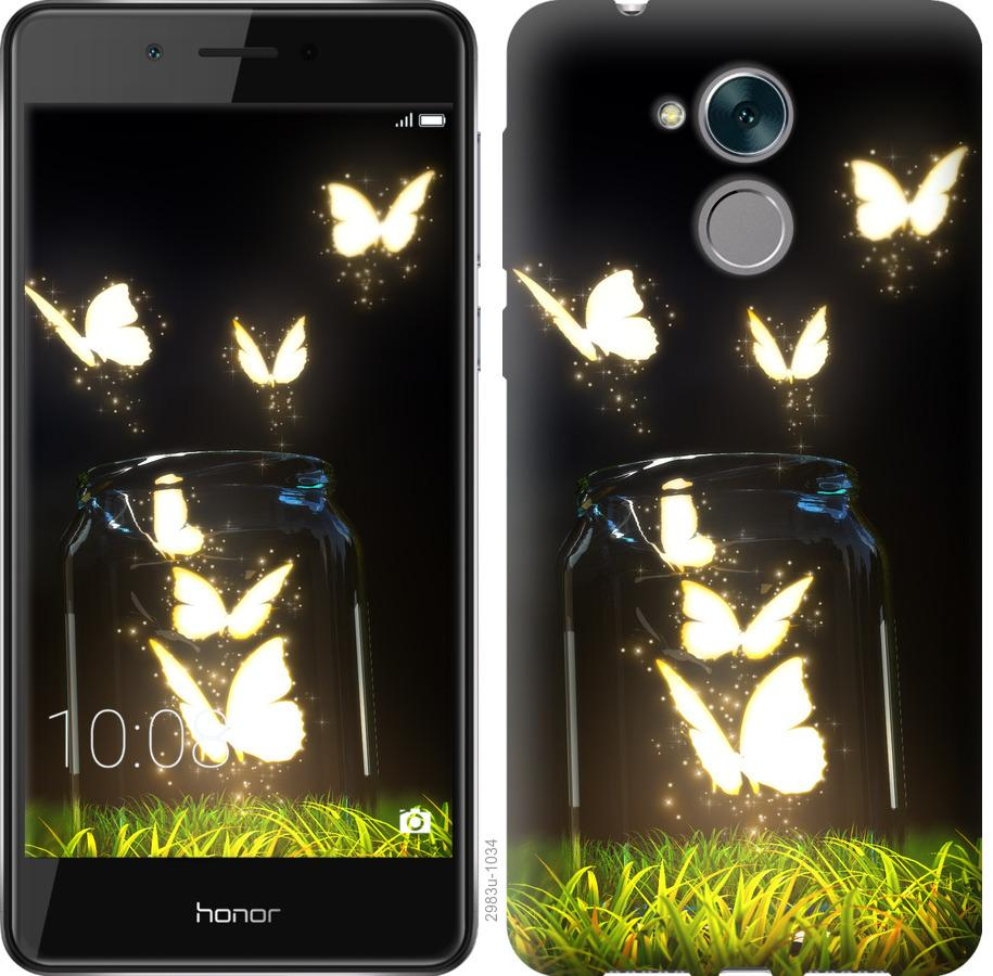 Чехол на Huawei Enjoy 6s Светящиеся бабочки