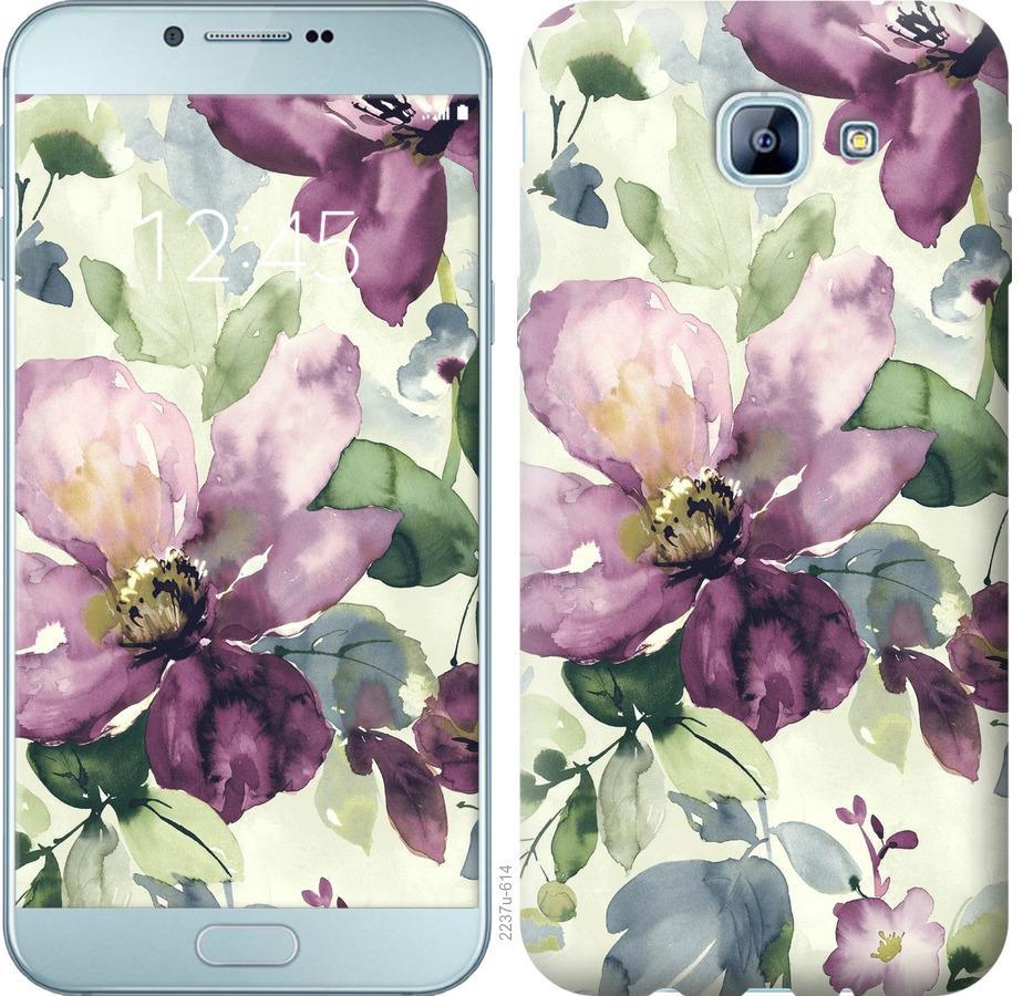 Чехол на Samsung Galaxy A8 (2016) A810 Цветы акварелью