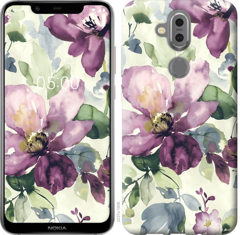 Чохол на Nokia 8.1 Квіти аквареллю