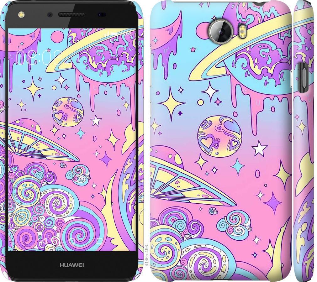 Чехол на Huawei Y5 II Розовая галактика