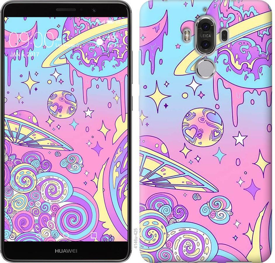 Чехол на Huawei Mate 9 Розовая галактика