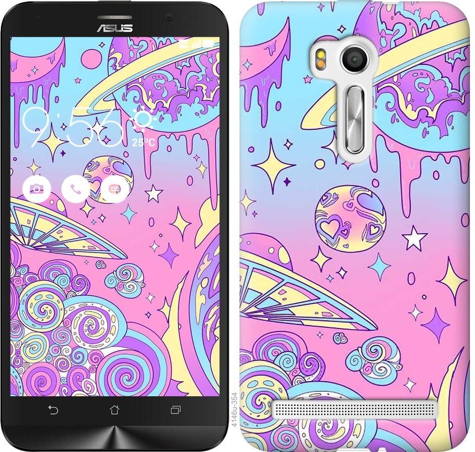 Чехол на Asus ZenFone Go TV ZB551KL Розовая галактика