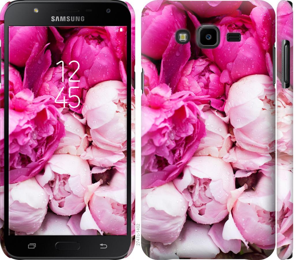 Чехол на Samsung Galaxy J7 Neo J701F Розовые пионы