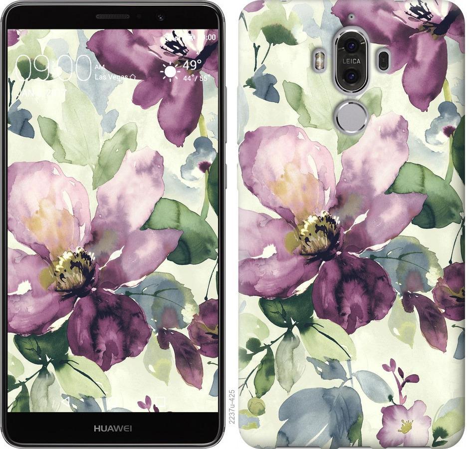 Чохол на Huawei Mate 9 Квіти аквареллю