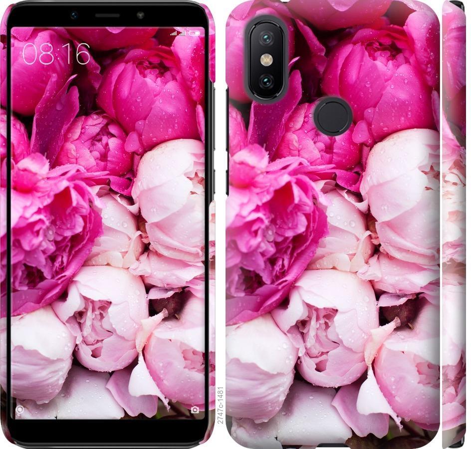 Чехол на Xiaomi Mi A2 Розовые пионы