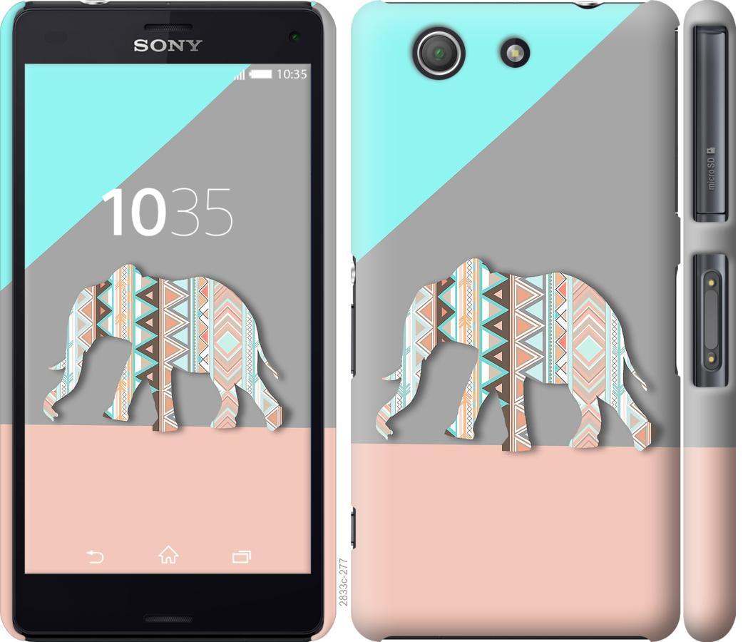 Чехол на Sony Xperia Z3 Compact D5803 Узорчатый слон