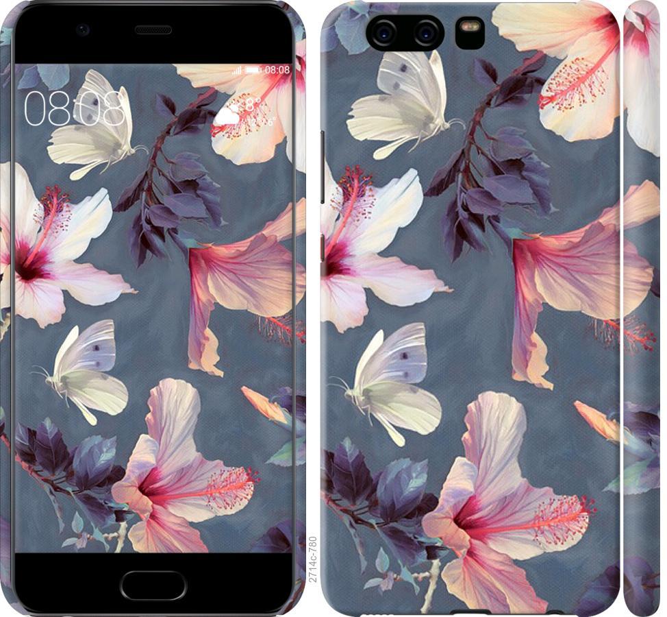 Чехол на Huawei P10 Нарисованные цветы