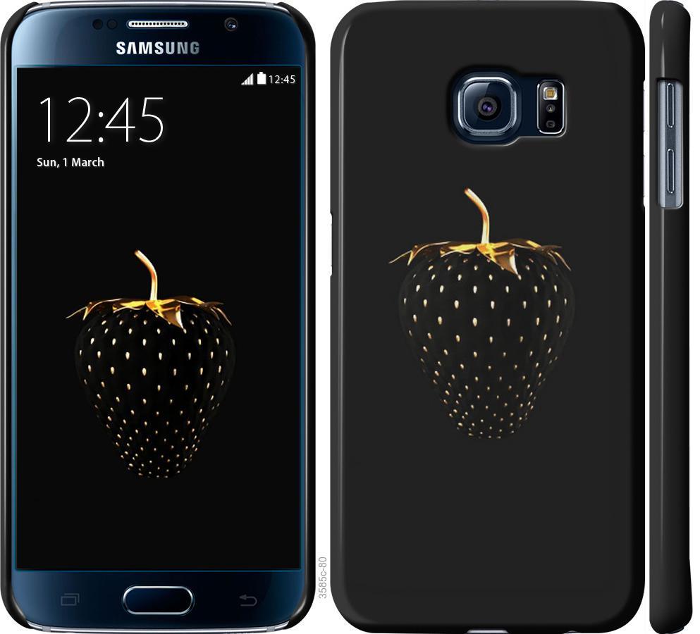 Чехол на Samsung Galaxy S6 G920 Черная клубника