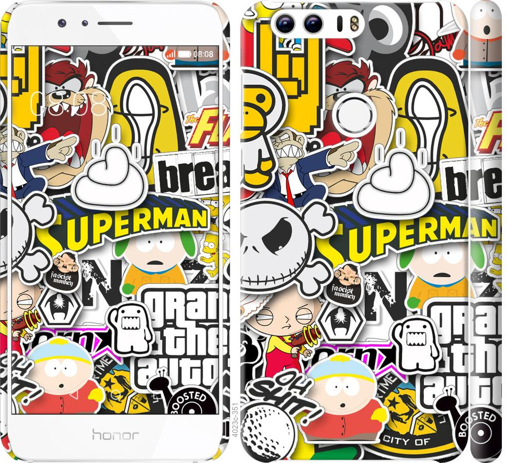 Чехол на Huawei Honor 8 Popular logos