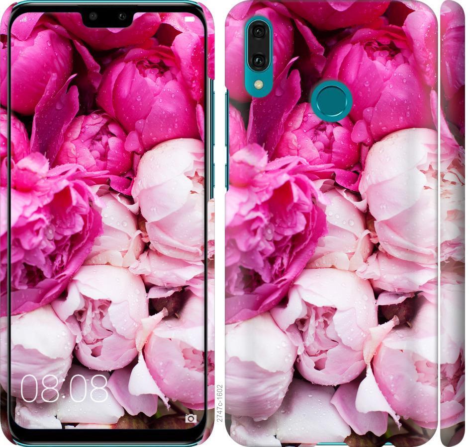 Чехол на Huawei Y9 2019 Розовые пионы