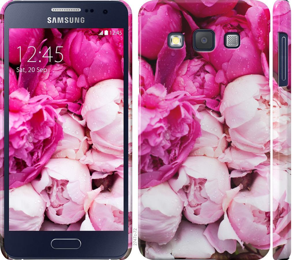 Чехол на Samsung Galaxy A3 A300H Розовые пионы