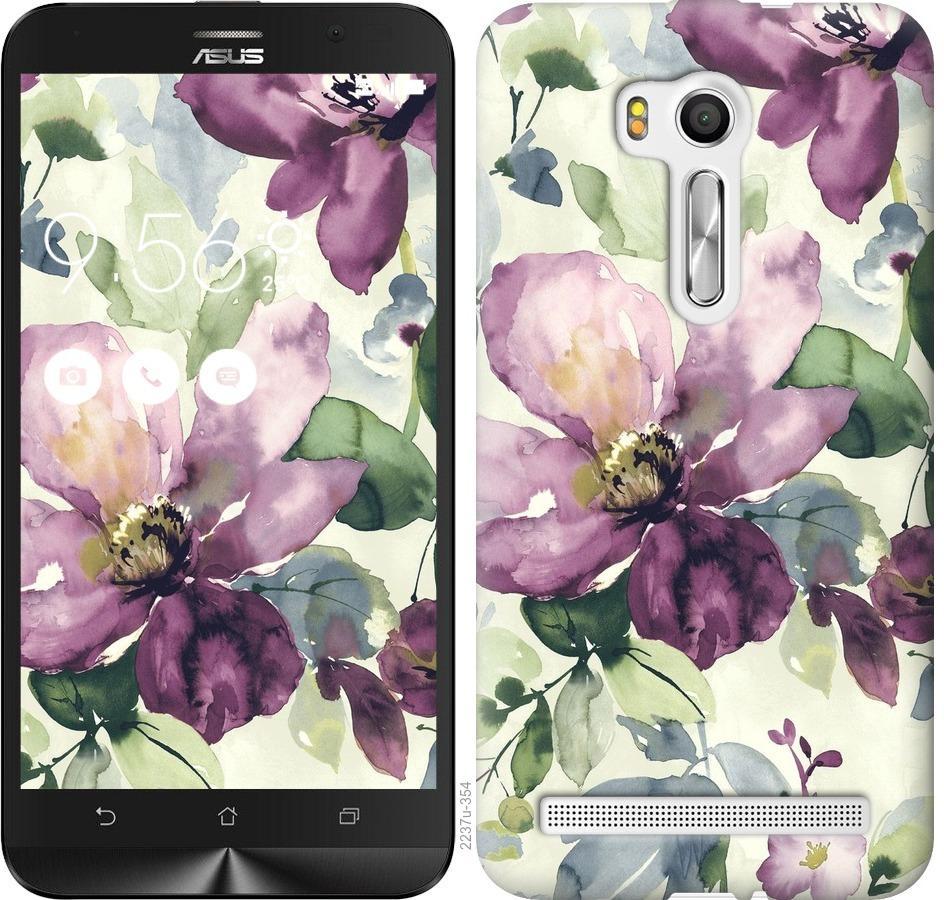 Чехол на Asus ZenFone Go TV ZB551KL Цветы акварелью