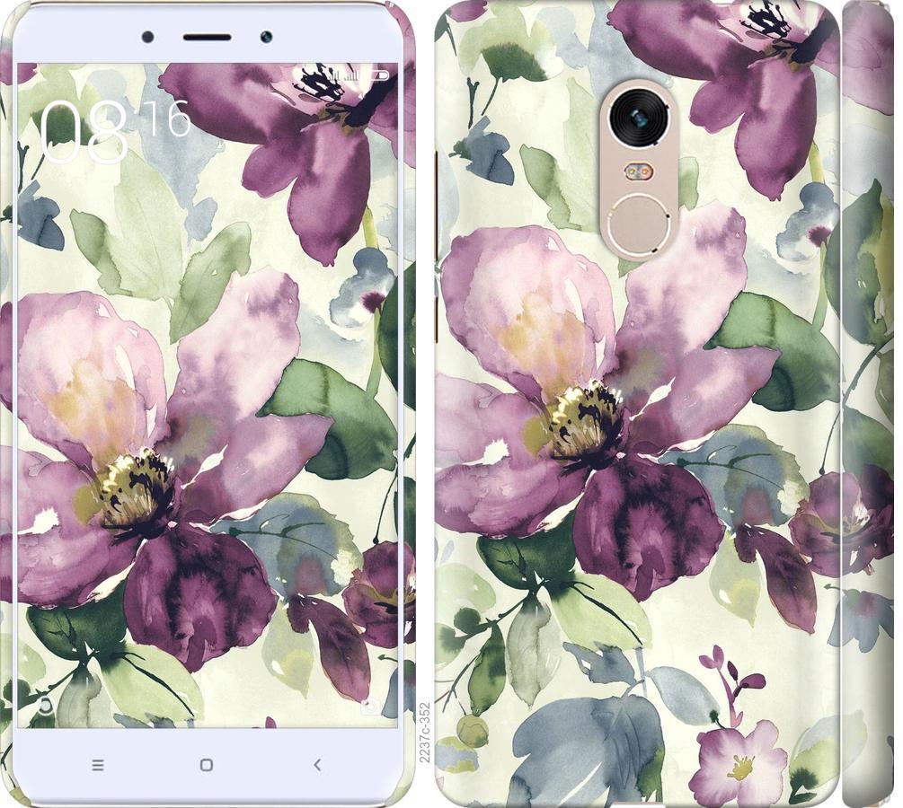 Чехол на Xiaomi Redmi Note 4 Цветы акварелью