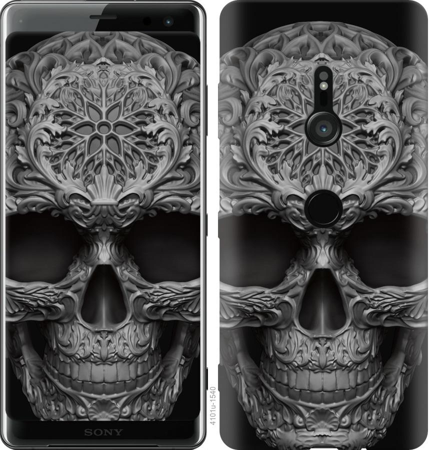 Чехол на Sony Xperia XZ3 H9436 skull-ornament