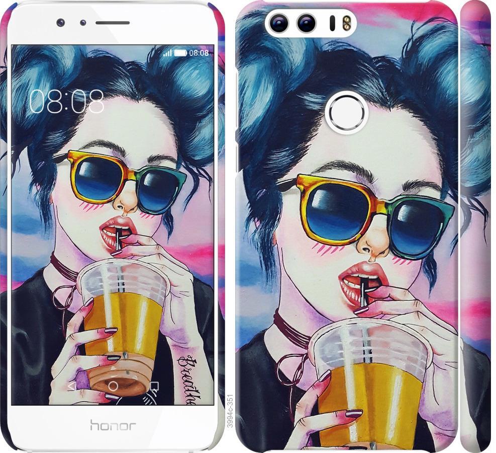 Чехол на Huawei Honor 8 Арт-девушка в очках