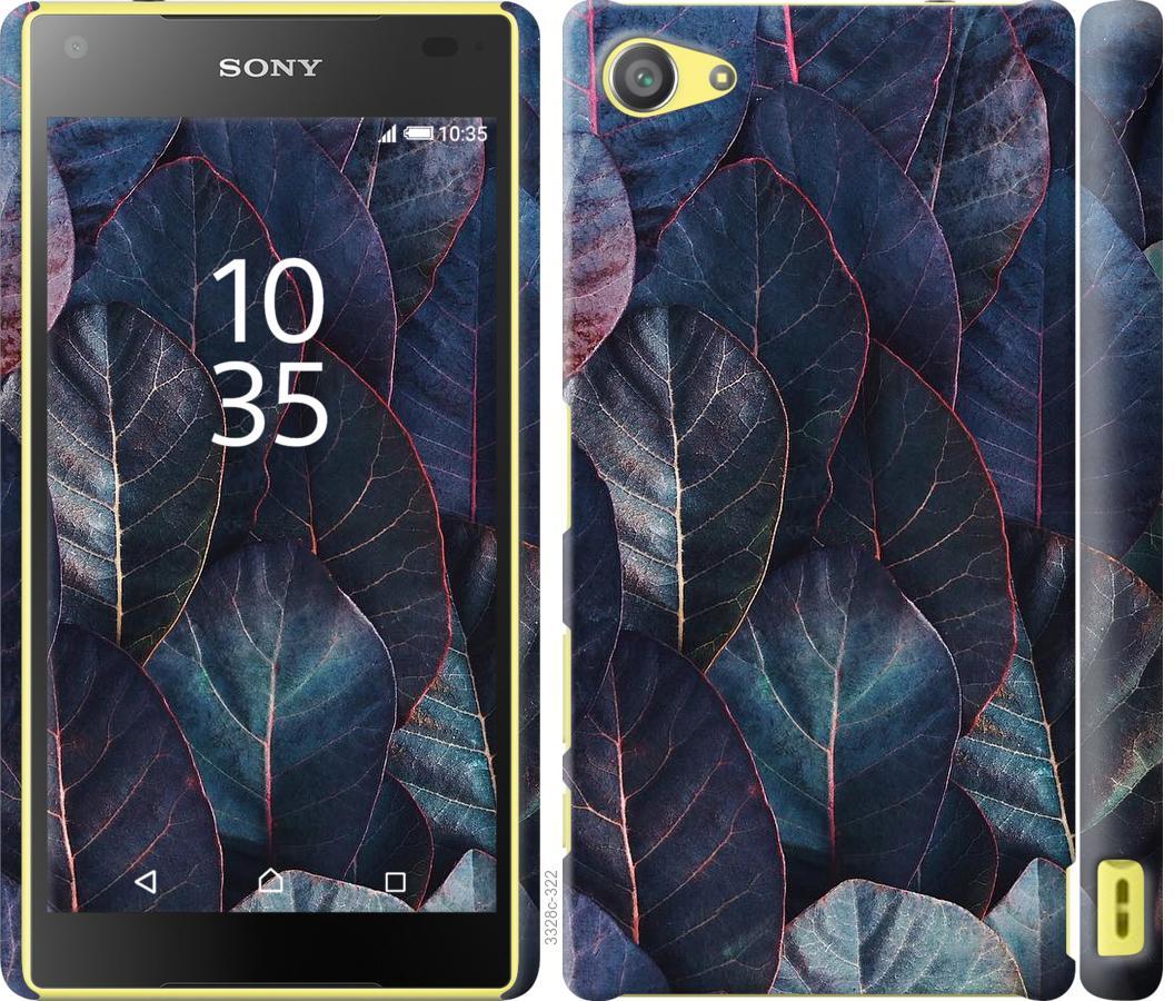 Чехол на Sony Xperia Z5 Compact E5823 Листья v3