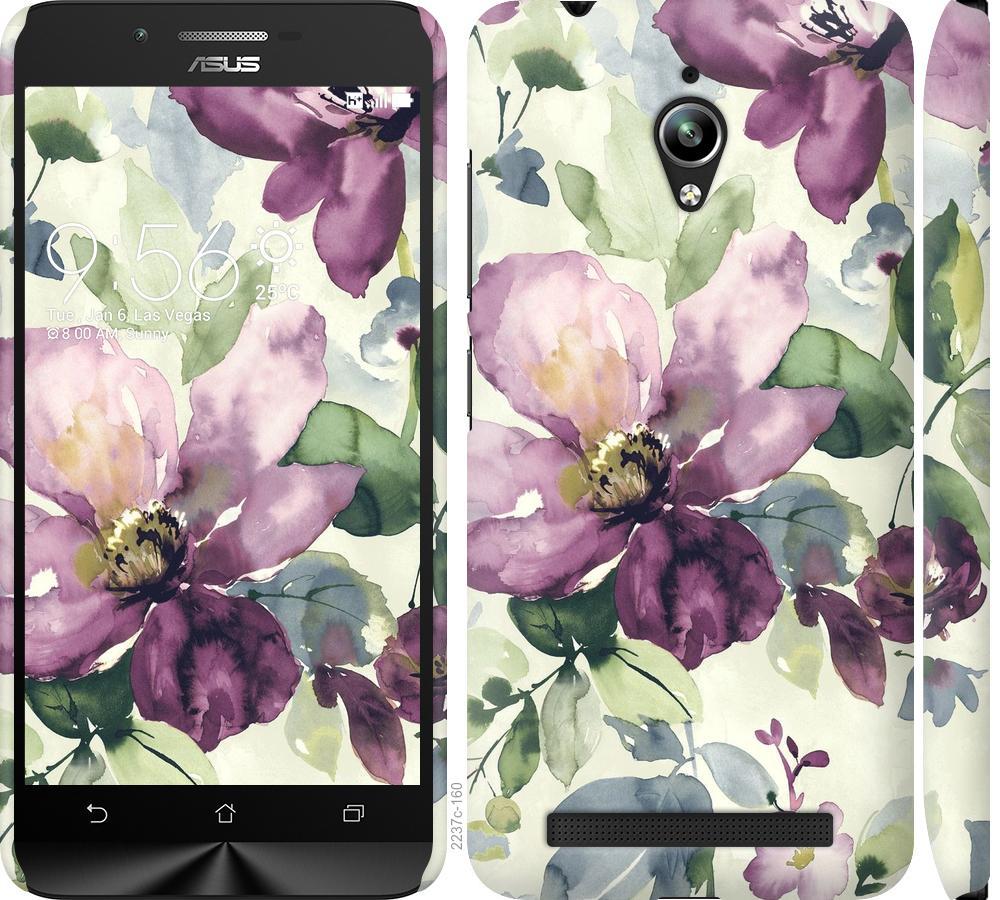 Чехол на Asus Zenfone Go ZC500TG Цветы акварелью