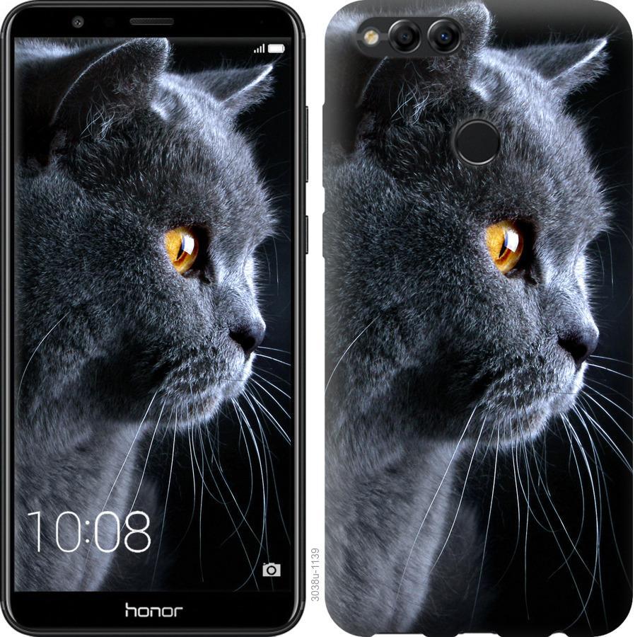 Чехол на Huawei Honor 7X Красивый кот