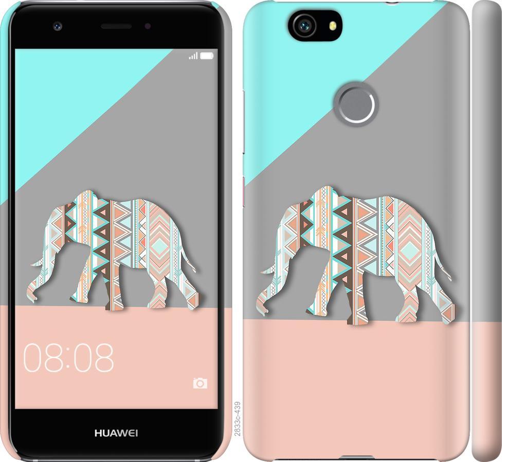 Чехол на Huawei Nova Узорчатый слон